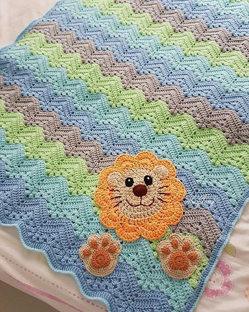 6-Day Kid Blanket - Free Pattern