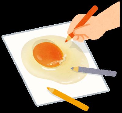 リアルな絵を描く手のイラスト