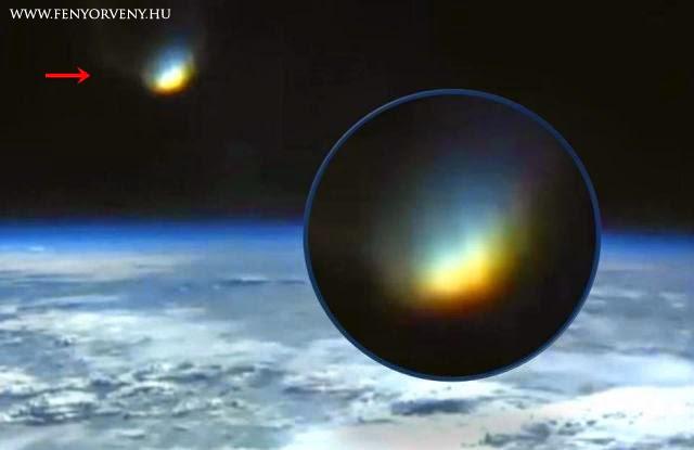 Fényes objektumot vagy portált rögzített az ISS webkamerája