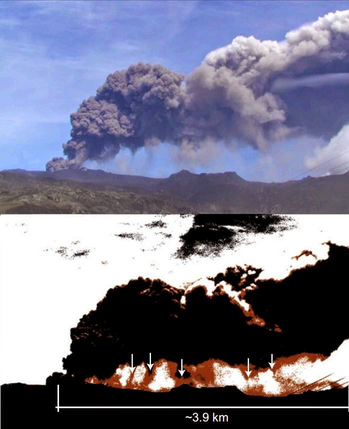 Role of Gravitational Instabilities in Volcanic Ash Deposition