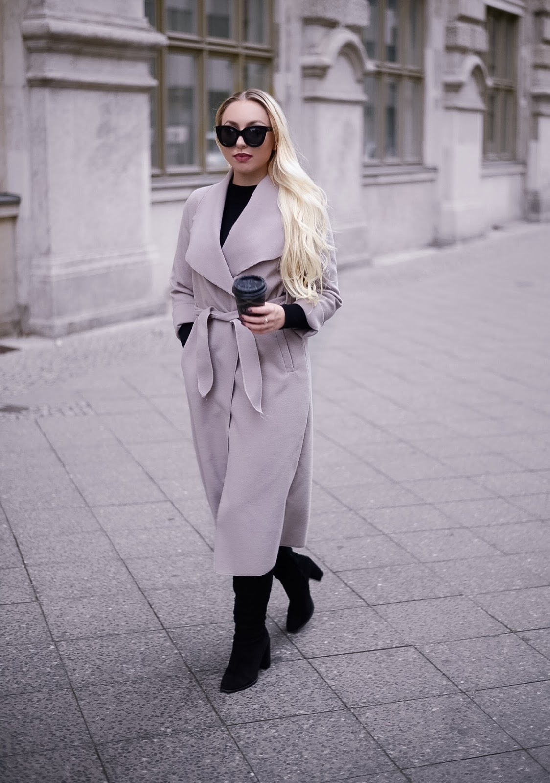 neutral long coat