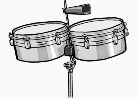 monochrome picture : timbales (Latin-American)