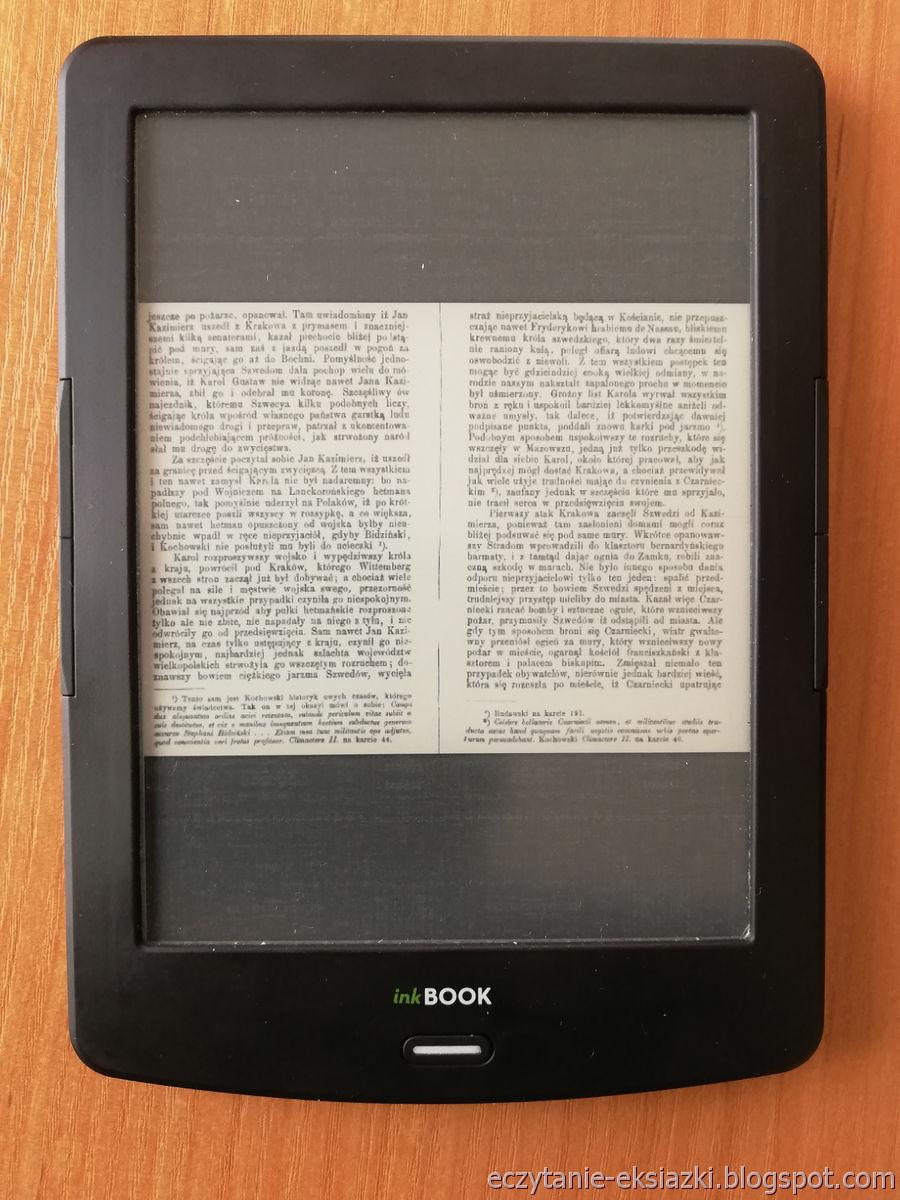 PocketBook Reader InkBOOK LUMOS – plik DJVU w trybie zwykłym
