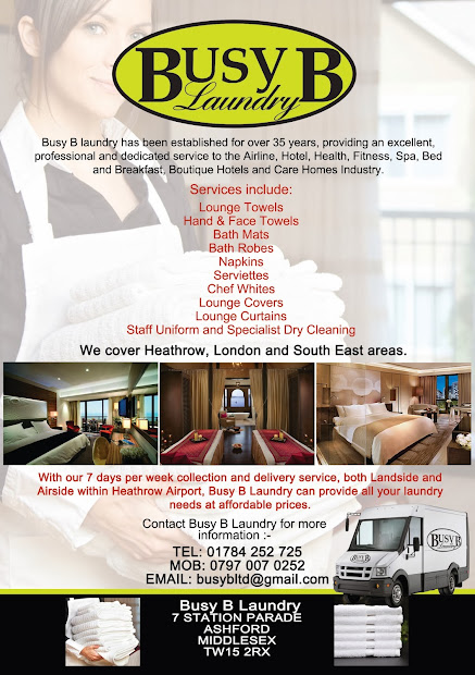 1 Stop Design And Print Busy Laundry - Flyer