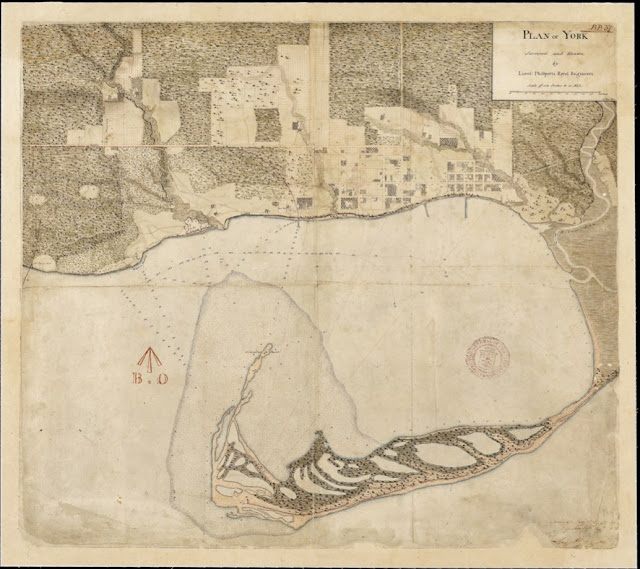 Plan of York.  Surveyed and Drawn by Lieut. George Phillpotts Royal Engineers. 24th May 1818.