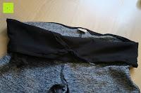 Gürtel: Laufhose Damen capri mit Hüfttasche für Handy Leggings Fitness Sport tights schwarz muster yoga hose sporthose jogging farbig dreiviertel 3/4 lang von Formbelt
