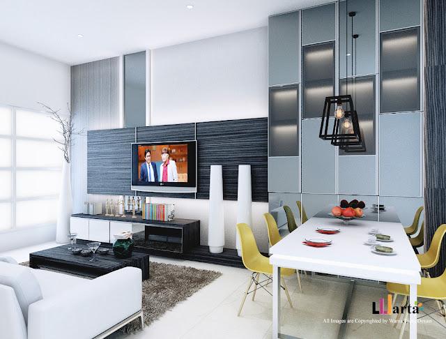 Desain Interior Black and White