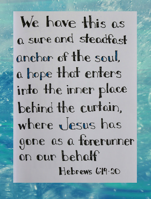 Scripture Writing, Hebrews 6:19-20