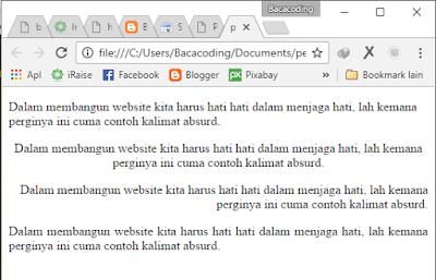 Cara Membuat Perataan Paragraf di HTML