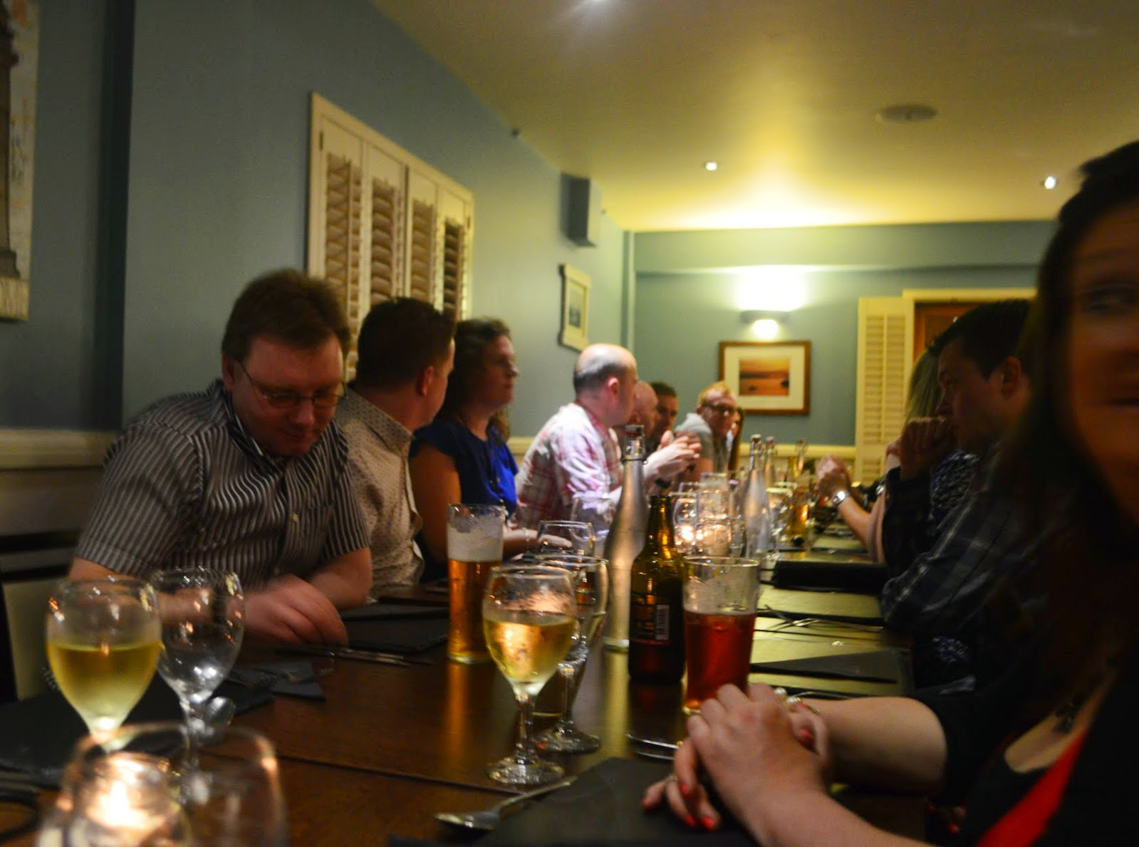 Ceri's Leaving do meal out party Harbourmaster