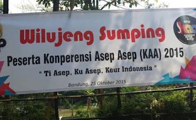 Konperensi Asep Asep Yang Pertama di Tahun 2015.  Photo dari paguyubanasep.com