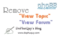 "Remove ""view topic"" and ""view forum"" phpBB3"