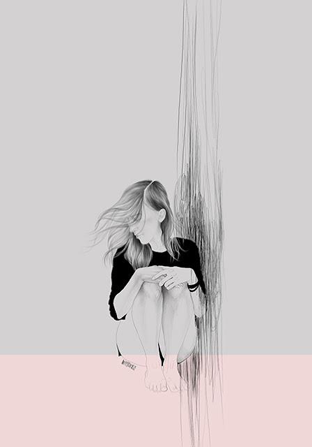 por Agata Wierzbicka | imagenes bonitas bellas, ilustraciones romanticas, modernas, sentimientos y emociones, creative emotional illustration art pictures, deep feelings, cool stuff.