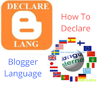The simplest way to declare your Blogger (Blogspot) Preferred Language.