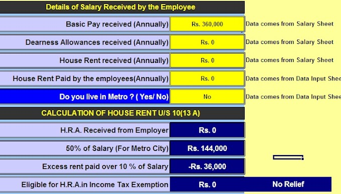 Download Automated Income Tax Form 16 Part B for F.Y. 2018-19 which can prepare at a time 100 and 50 Employees Form 16 Part B With House Rent Exemption U/S 10(13A) and Automated Arrears Relief Calculator U/s 89(1) with Form 10E