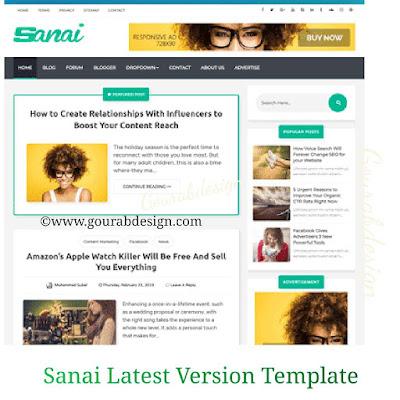 Sanai blogger template