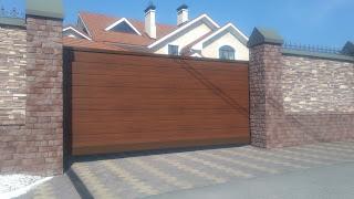 Ворота откатные Центр кровли и фасада г. Заволжье  ул.Баумана д.5    +79290505004