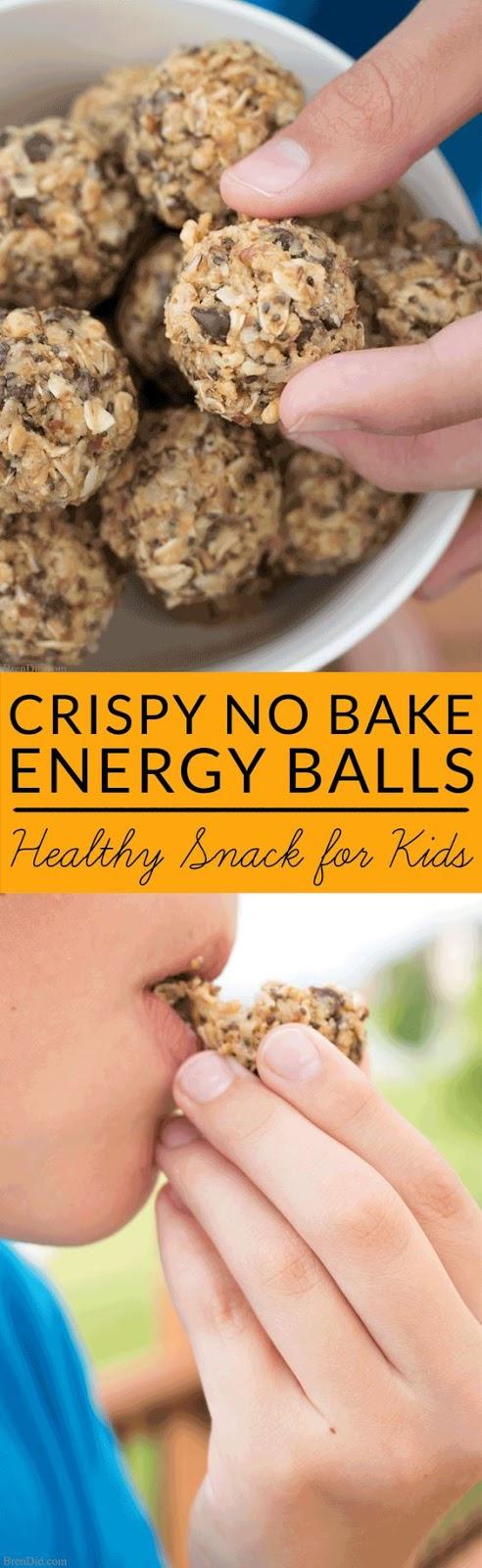 CRISPY NO BAKE ENERGY BALLS FOR KIDS