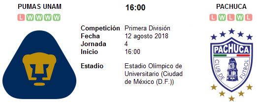 Pumas UNAM vs Pachuca en VIVO