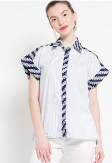 Model Baju Batik Atasan Modern