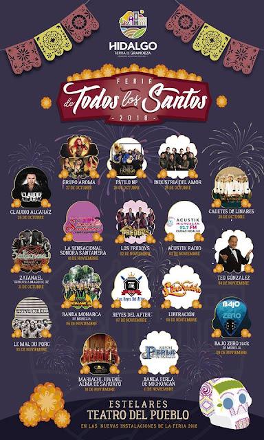 teatro del pueblo feria todos los santos hidalgo 2018