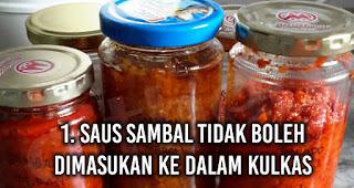 Saus Sambal tidak boleh dimasukan ke dalam Kulkas