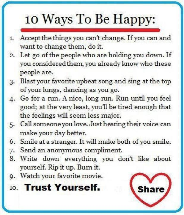 Inspirational Quotes About Happiness: Life Inspiration Quotes: Ways To Be Happy Inspirational Quote