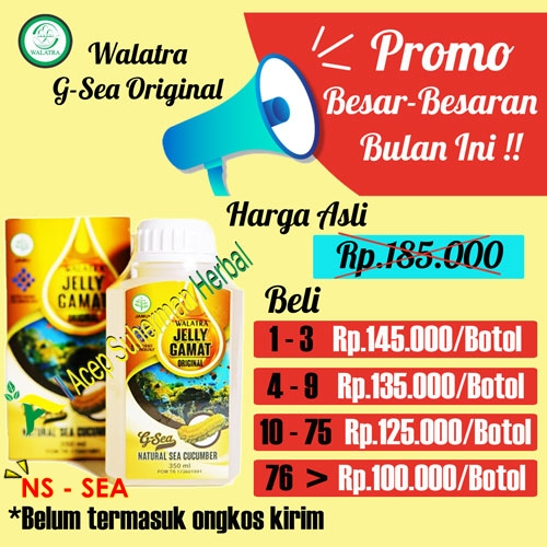 PROMO BESAR WALATRA JELLY GAMAT ORIGINAL G-SEA