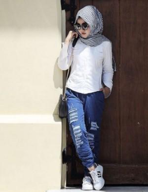 7 Fashion Hijab Kemeja Dan Tips Padu Padan Untuk Penampilan Cantikmu Model Baju Busana Muslim