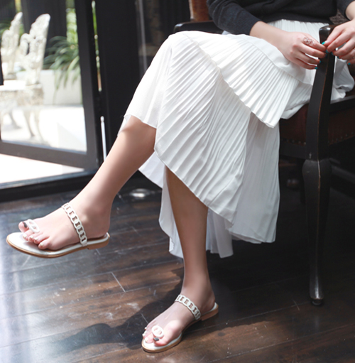 Three-Tier Fine Pleated Skirt