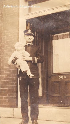 John Jr. held by unknown man New York 1918  https://jollettetc.blogspot.com