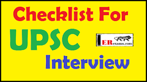 Checklist for UPSC Interview