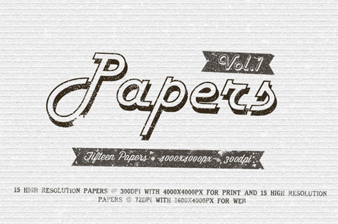 Papers Pack Vol.1 - graphicon