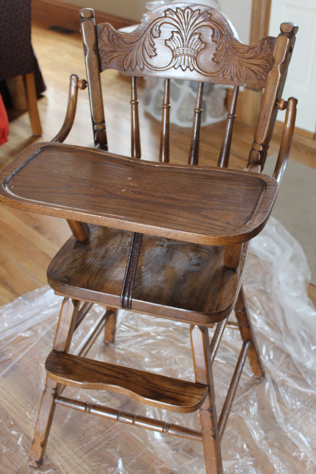 High Chair On White Shell Bliss Ranch Done Chalk Paint Makeover