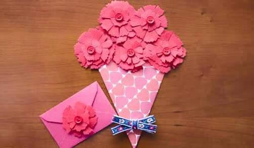 M s y m s manualidades crea hermosas tarjetas con flores - Como hacer manualidades faciles y bonitas ...