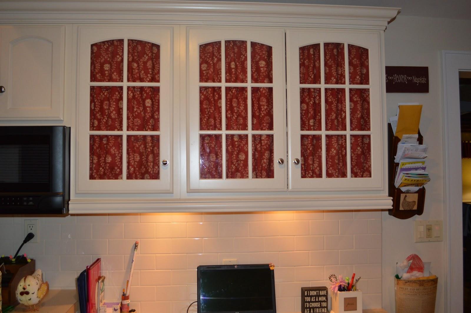 adding fabric to glass doors