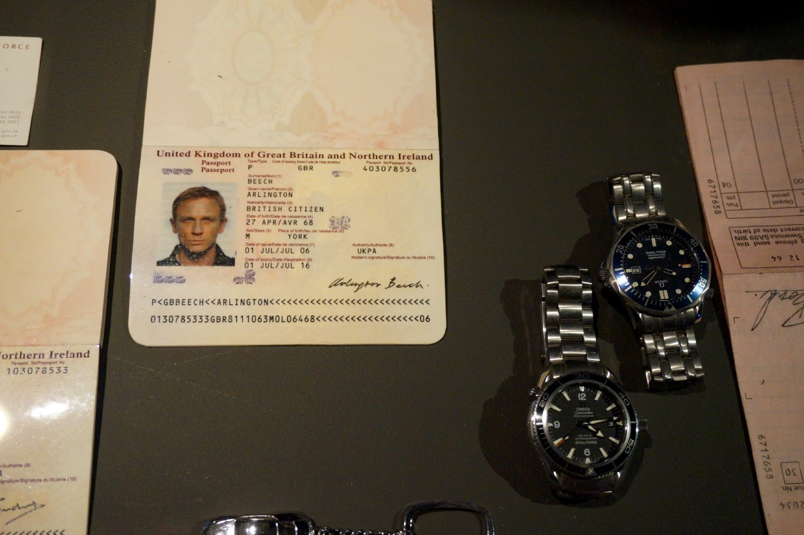 James Bond passport at James Bond Car Exhibition