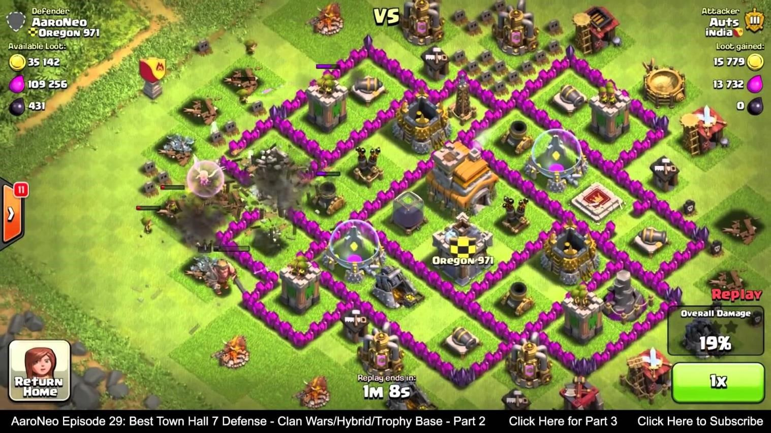 clash of clans defense strategy town hall 7