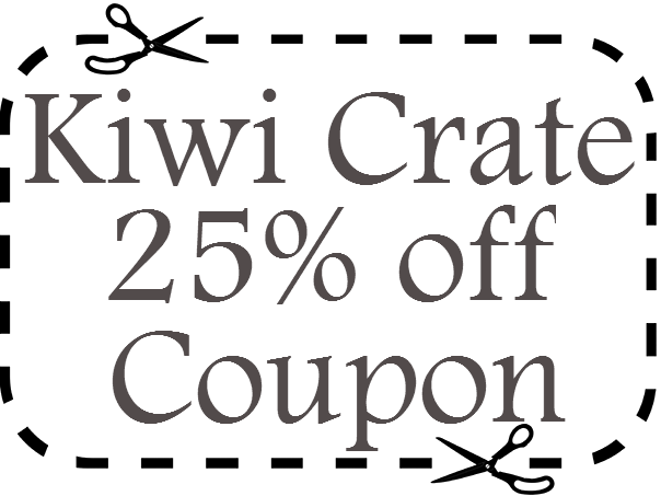 Kiwi Crate Promo Code 25% off March, April, May, June, July, August 2016, 2017