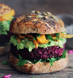 How to make a vegan black bean burger with truffle cheese, also vegan, and chipotle mayonnaise