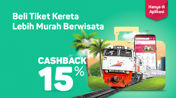 Bukalapak - Voucher Diskon s.d 15% Beli Tiket Kereta (s.d 30 Sept 2018)