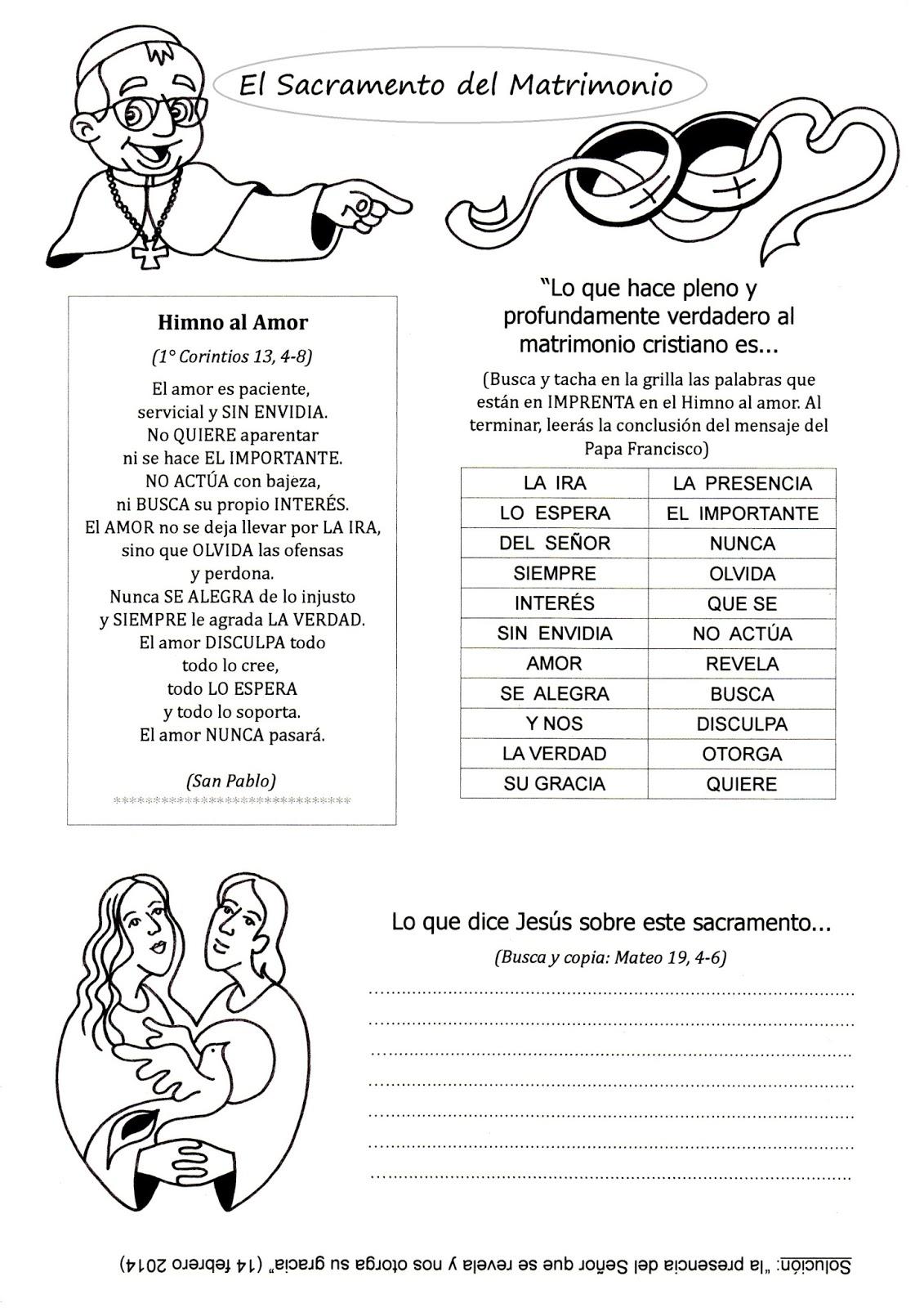 Matrimonio Catolico Para Colorear : La catequesis el de sandra recursos