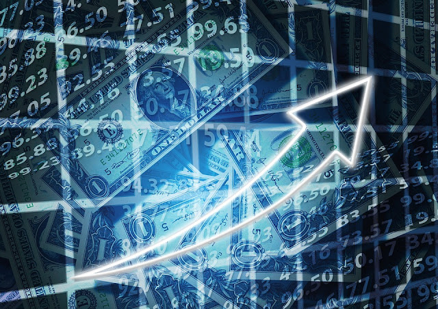 Stock graph money upward arrow Profitable investments