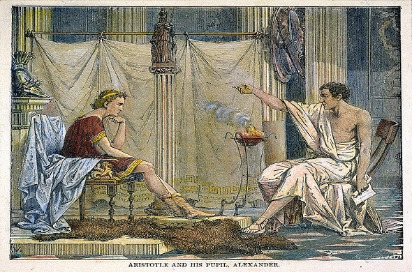 Alexander-and-Aristotle-الاسكندر-الاكبر-و-ارسطو
