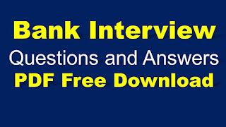 Bank Interview Questions and Answers PDFFree Download