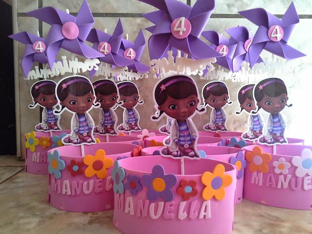 Centro de Mesa Dra Brinquedos EVA