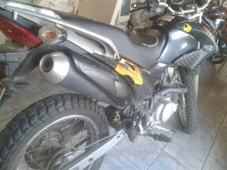 Moto roubada em São Vicente do Seridó foi utilizada no assalto aos Correios de Assunção