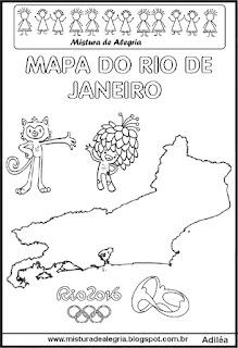 Jogos olímpicos e mapa Rio de Janeiro