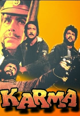 Poster Of Bollywood Movie Karma (1986) 300MB Compressed Small Size Pc Movie Free Download worldfree4u.com