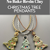 No Bake Rustic Christmas Tree Resin Clay Pendants Tutorial